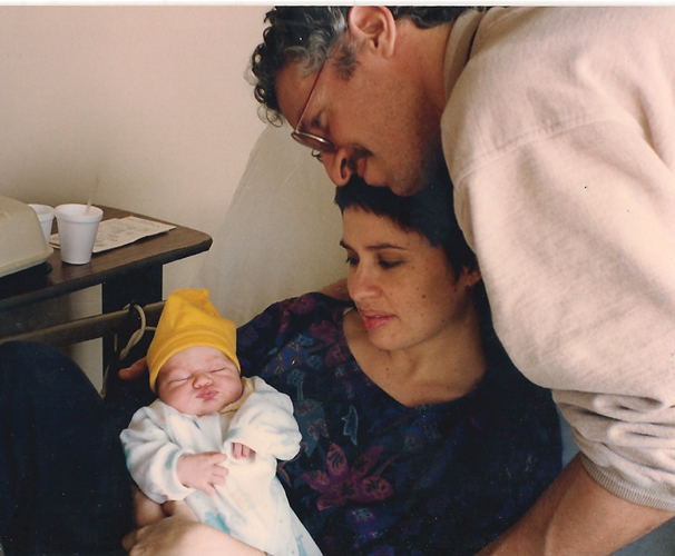 mark, joanna, and cassie as a newborn2