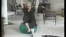 Mom's exercise ball video