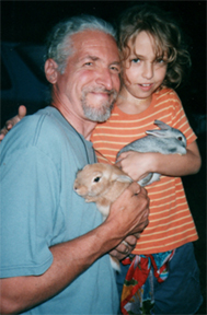 mark & cassie with bunnies