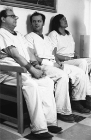 three patients in one flew over the cuckoo nest